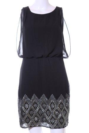 Vero Moda Minikleid schwarz-silberfarben Elegant