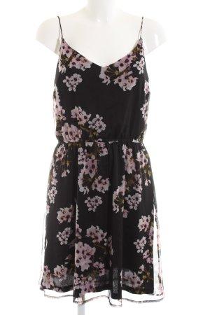 Vero Moda Minikleid braun-pink Allover-Druck Casual-Look