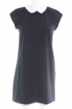 Vero Moda Minikleid dunkelblau-weiß Karomuster klassischer Stil