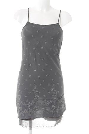Vero Moda Minikleid grau-hellgrau Blumenmuster Elegant
