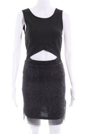 Vero Moda Minikleid schwarz Glitzer-Optik