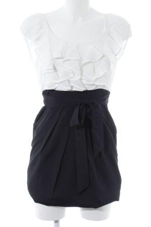 Vero Moda Minikleid schwarz-hellbeige Casual-Look