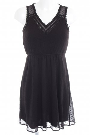 Vero Moda Minikleid schwarz Punktemuster Romantik-Look
