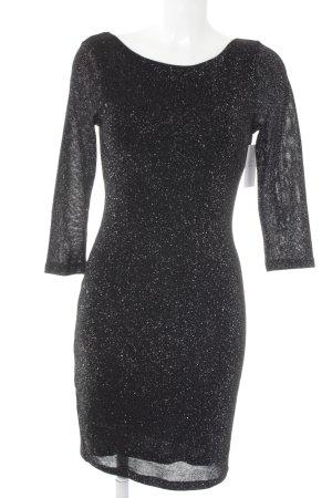 Vero Moda Minikleid schwarz-silberfarben Glitzer-Optik