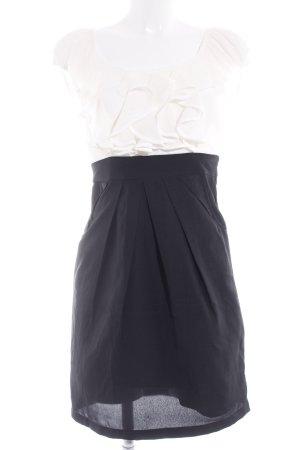 Vero Moda Minikleid schwarz-weiß Business-Look