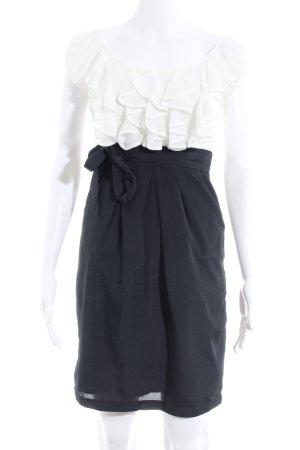 Vero Moda Minikleid schwarz-wollweiß Elegant