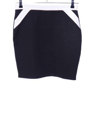 Vero Moda Mini-jupe noir-blanc style d'affaires
