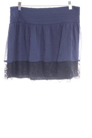 Vero Moda Minirock dunkelblau-schwarz Casual-Look