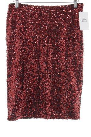 Vero Moda Minirock schwarz-rot Glanz-Optik