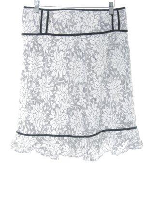 Vero Moda Minirock weiß-schwarz Blumenmuster Casual-Look
