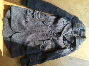 Vero Moda - moderner und warmer Mantel aus Wolle - Grau - Gr. S oder 34 36