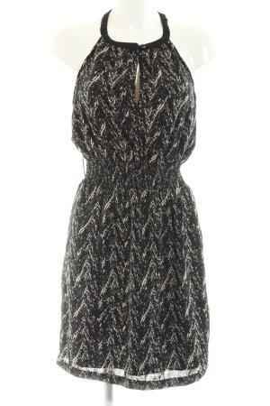 Vero Moda Neckholderkleid schwarz-wollweiß abstraktes Muster Casual-Look
