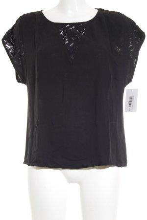 Vero Moda Netzshirt schwarz Romantik-Look
