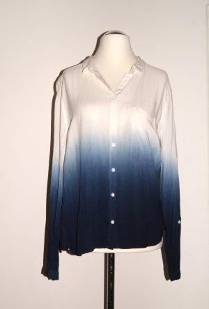 Vero Moda Ombré Bluse, weiß/blau, Gr. L (Gr. 40) NEU