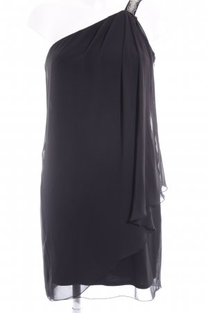 Vero Moda One-Shoulder-Kleid schwarz-silberfarben Casual-Look