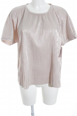 Vero Moda Oversized Shirt silberfarben-rosé Glanz-Optik