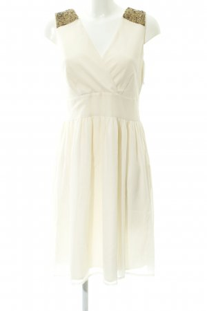 Vero Moda Vestido de lentejuelas crema elegante