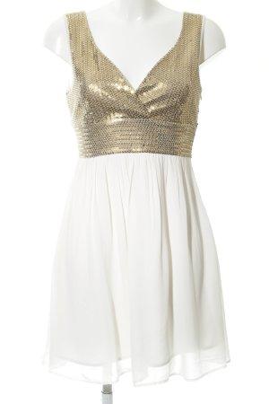 Vero Moda Pailettenkleid wollweiß-goldfarben Elegant