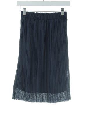 Vero Moda Pleated Skirt dark blue casual look