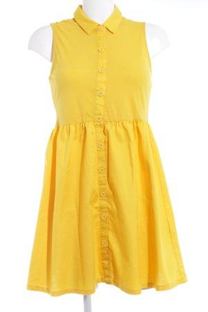 Vero Moda Vestido tipo polo amarillo oscuro look casual