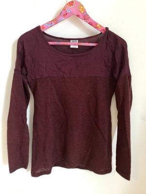 Vero Moda Pullover dünn Oberteil Langarm Rot Bordeaux Beere Größe S