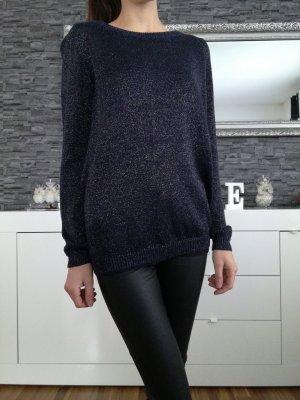 Vero Moda Pullover dunkelblau mit Schlitz XS