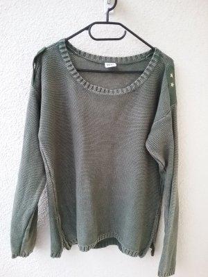 Vero Moda Pull en laine gris vert coton