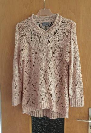 Vero Moda Pullover Strick rosa transparent gr. L Blogger