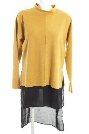 Vero Moda Abito maglione giallo pallido-nero stile stravagante