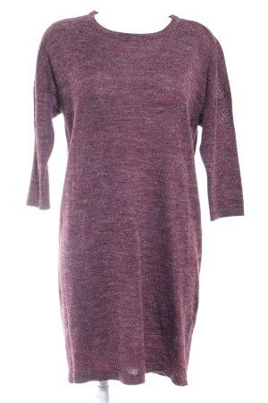 Vero Moda Sweater Dress brown violet flecked casual look