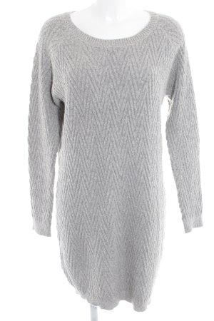 Vero Moda Pulloverkleid hellgrau-grau Webmuster Kuschel-Optik