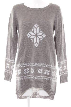 Vero Moda Sweater Dress white weave pattern casual look