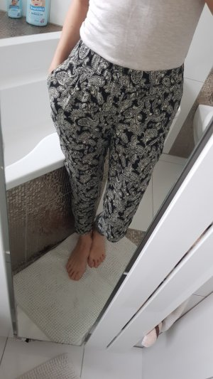 Vero Moda Pantalone bloomers nero-bianco sporco