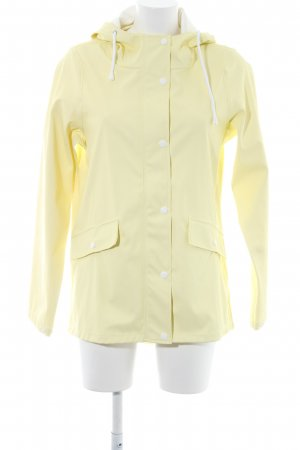 Vero Moda Heavy Raincoat pale yellow-white casual look