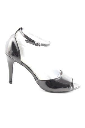 Vero Moda Riemchen-Sandaletten schwarz-dunkelbraun Elegant