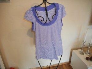 Vero Moda T-shirt rayé violet-blanc tissu mixte