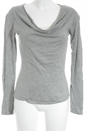 Vero Moda Rundhalspullover grau-weiß Casual-Look
