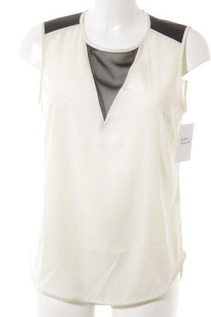 Vero Moda Schlupf-Bluse creme-schwarz Business-Look