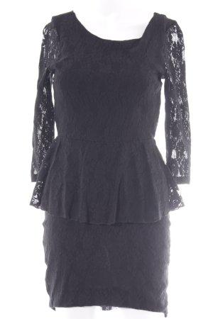 Vero Moda Peplum jurk zwart feest stijl