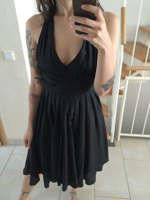Vero Moda Seiden Kleid Silk Rückenfrei Abendkleid