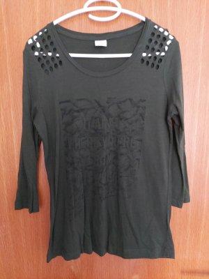 Vero Moda Print Shirt black-dark green