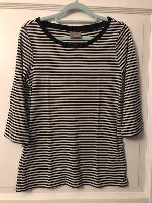 Vero Moda Shirt Langarmshirt schwarz / weiß Gr. M