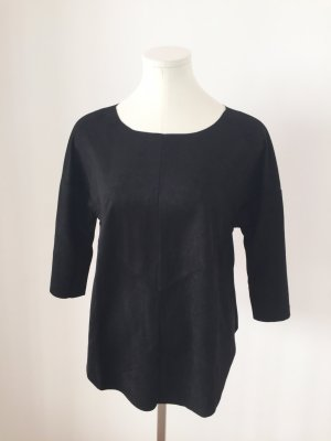 Vero Moda Shirt Pullover Top Gr. S Velourlederimitat schwarz