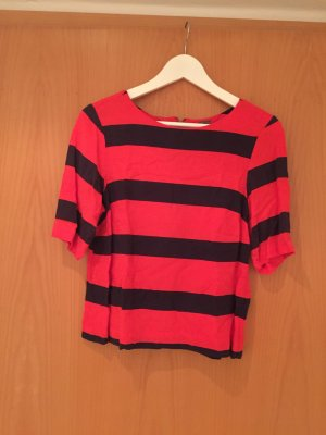 Vero Moda Shirt /rot-blau gestreift