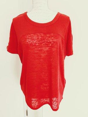 Vero Moda Camisa tejida rojo ladrillo