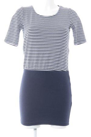 Vero Moda Shirtkleid dunkelblau-weiß Streifenmuster Marine-Look
