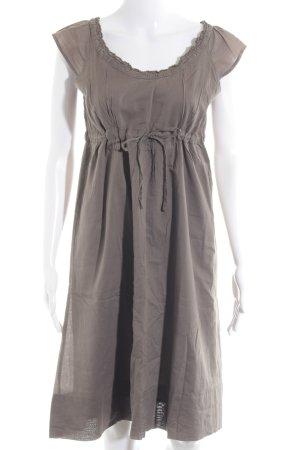 Vero Moda Vestido estilo camisa marrón grisáceo look casual