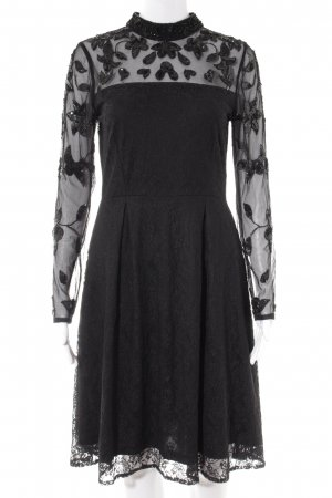 Vero Moda Shirtkleid schwarz-silberfarben Party-Look