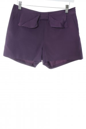 Vero Moda Shorts braunviolett Business-Look