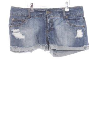 Vero Moda Shorts blau Street-Fashion-Look